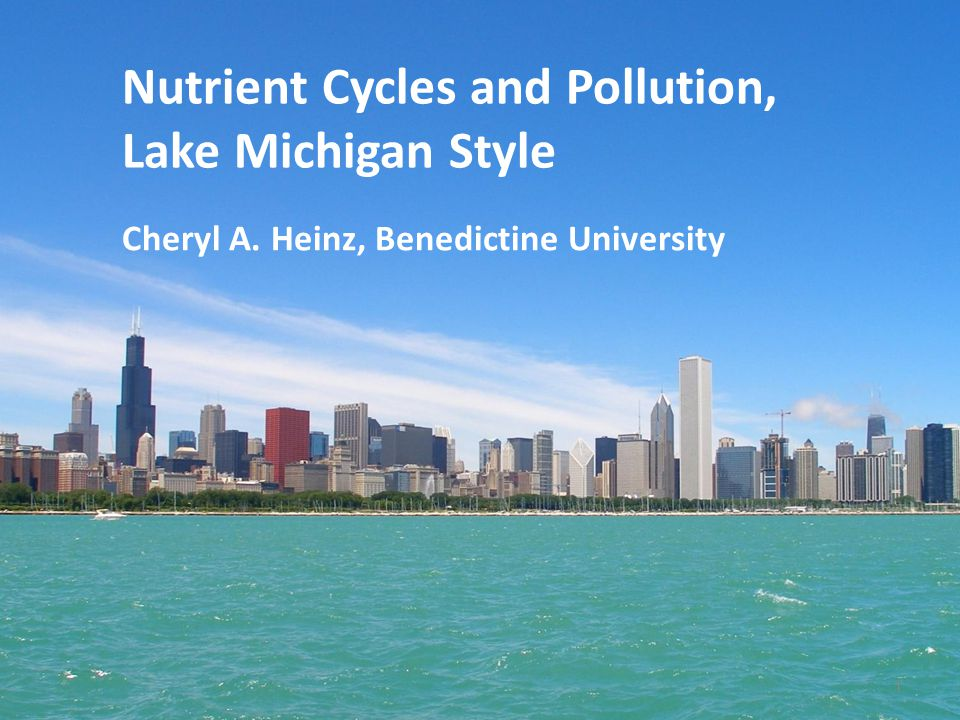Nutrient Cycles and Pollution, Lake Michigan Style Cheryl A. Heinz, Benedictine University 1