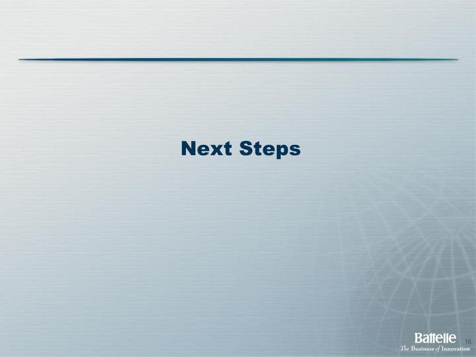 16 Next Steps