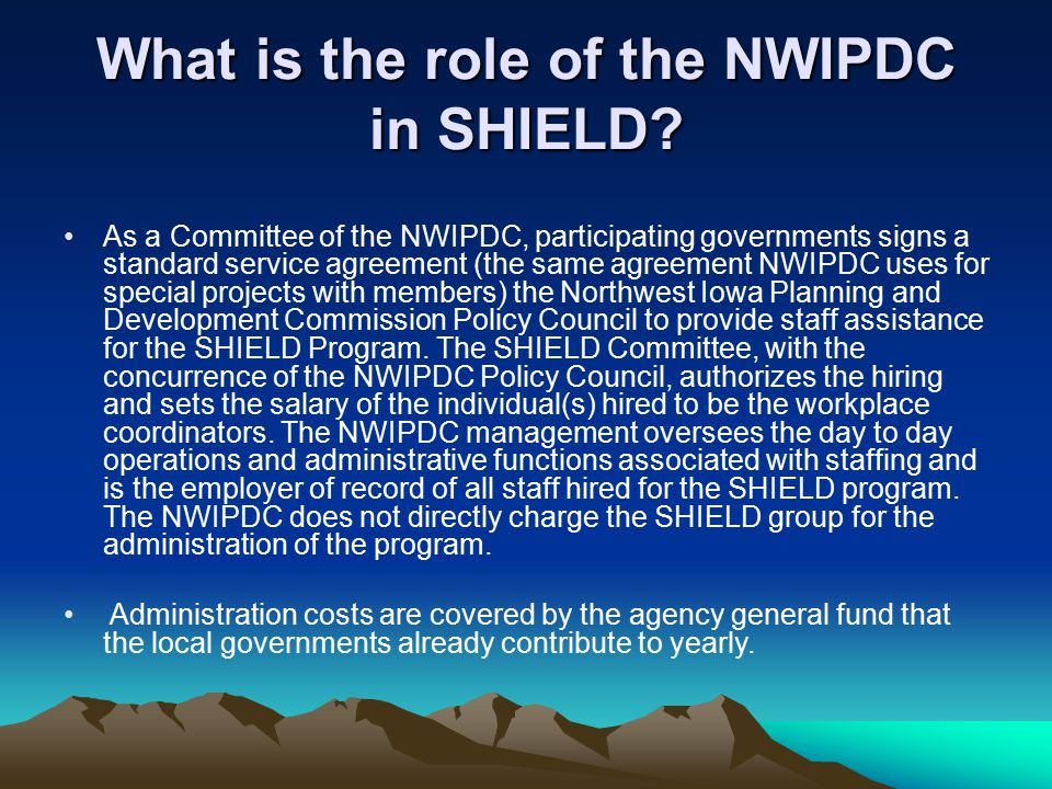 What is the role of the NWIPDC in SHIELD.
