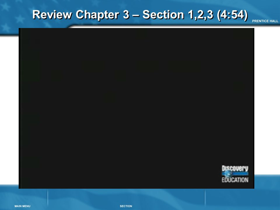 Review Chapter 3 – Section 1,2,3 (4:54)