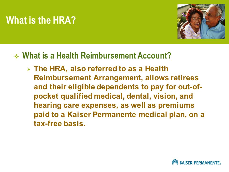What is the HRA.  What is a Health Reimbursement Account.