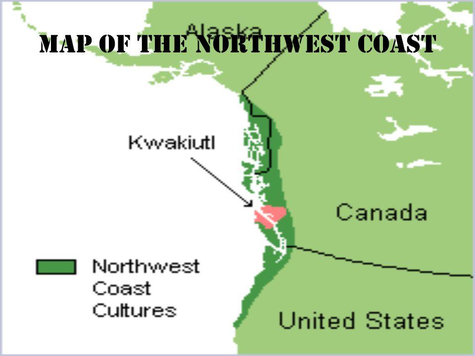 Map of the northwest coast