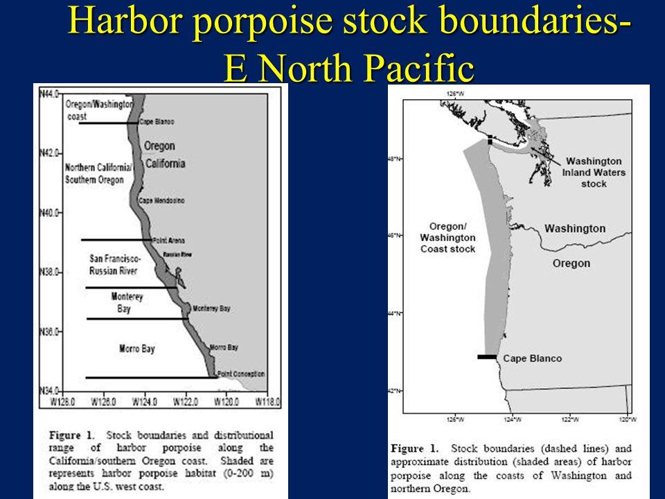 Harbor porpoise stock boundaries- E North Pacific