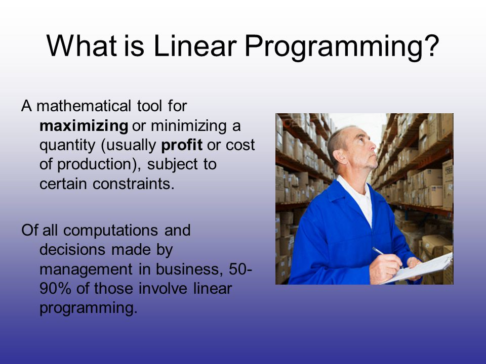 What is Linear Programming.