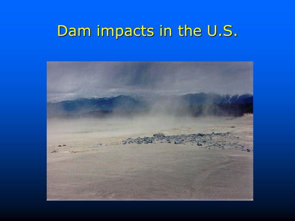 Dam impacts in the U.S.