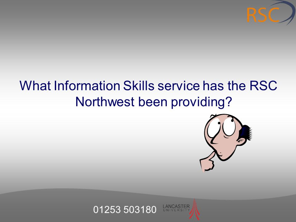 What Information Skills service has the RSC Northwest been providing?