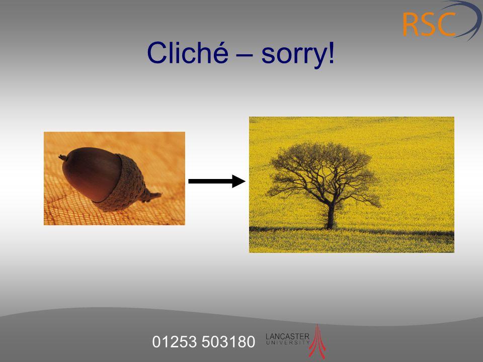 Cliché – sorry!