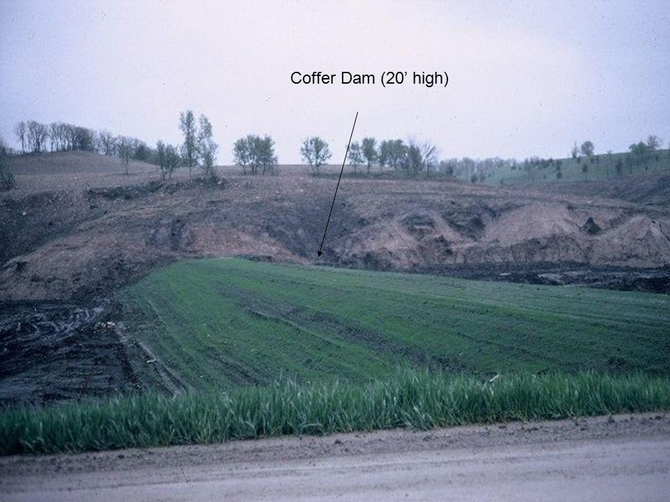 2 Coffer Dam (20' high)