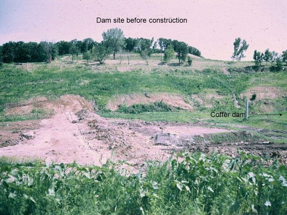 3 Dam site before construction Coffer dam