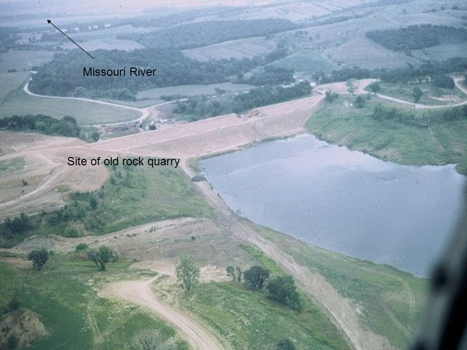 5 Missouri River Site of old rock quarry