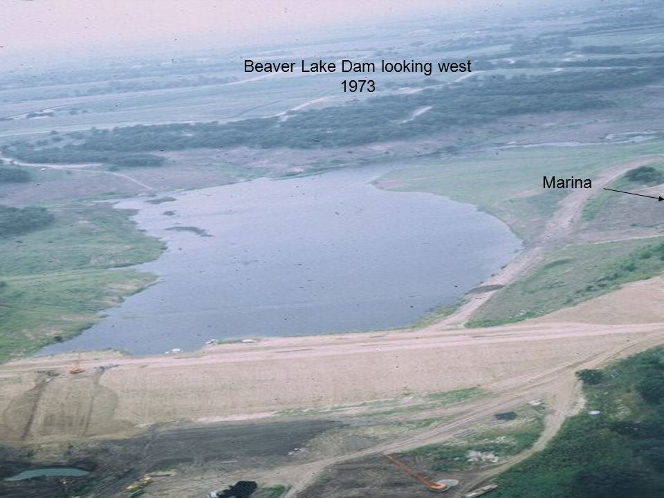 6 Beaver Lake Dam looking west 1973 Marina