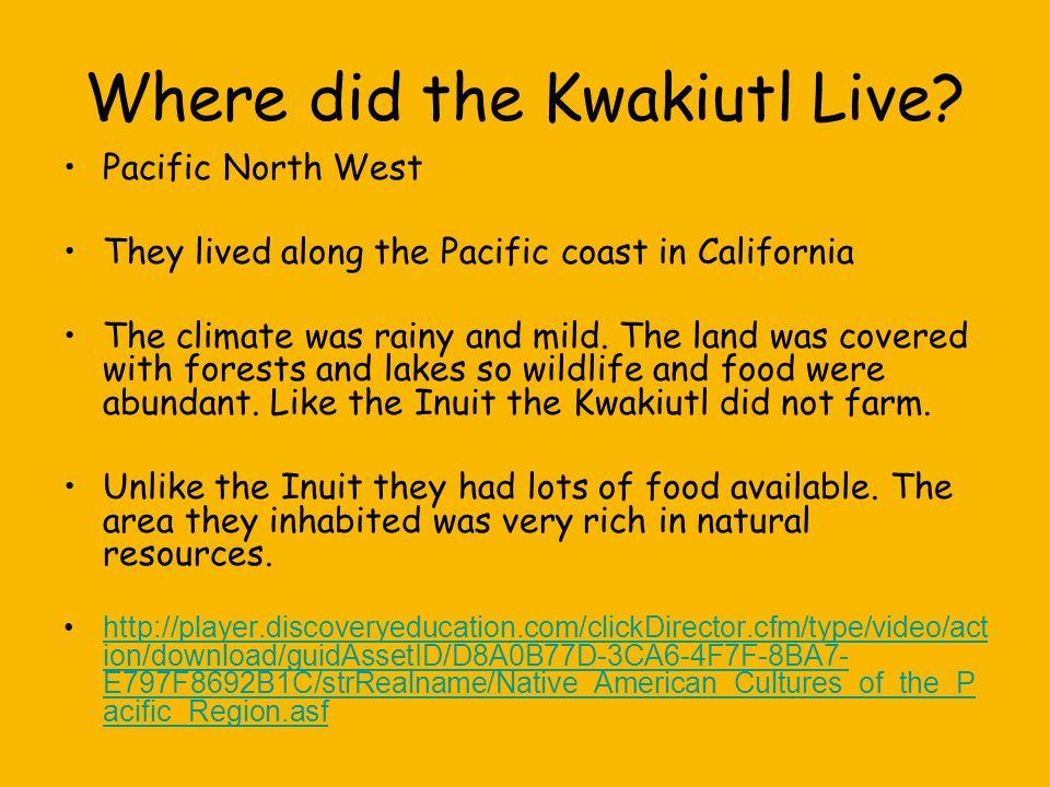 How did the Kwakiutl Survive.The Kwakiutl Indians were fishing people.