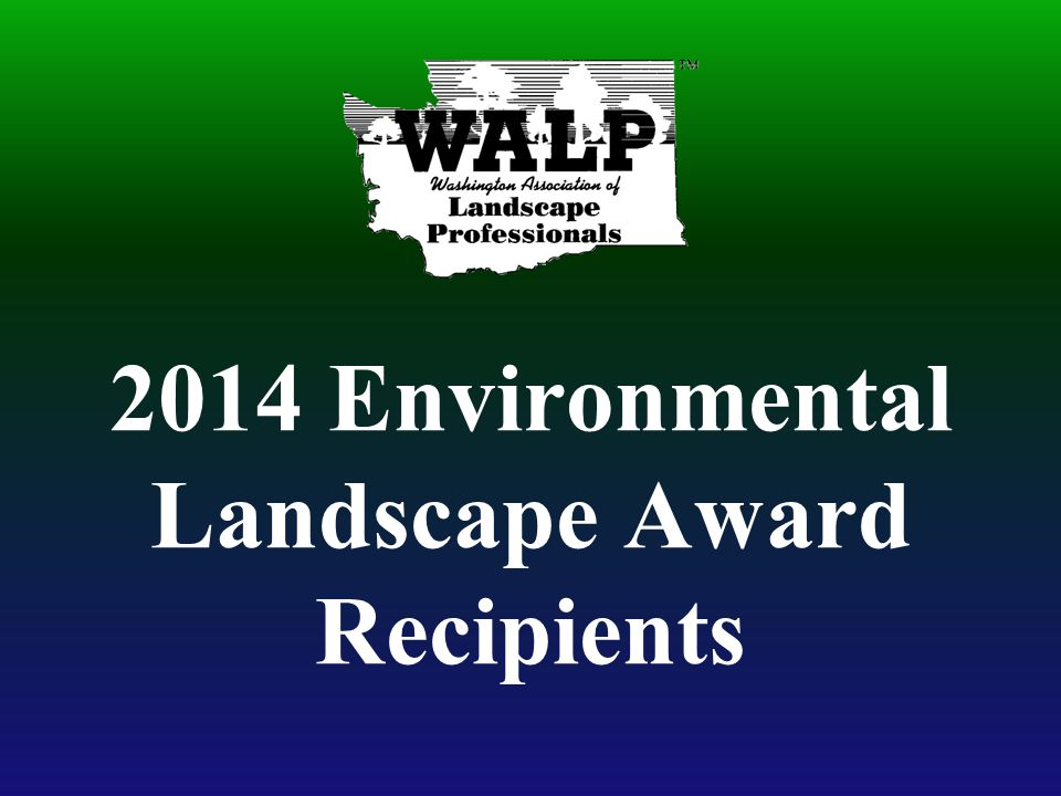 2014 Environmental Landscape Award Recipients