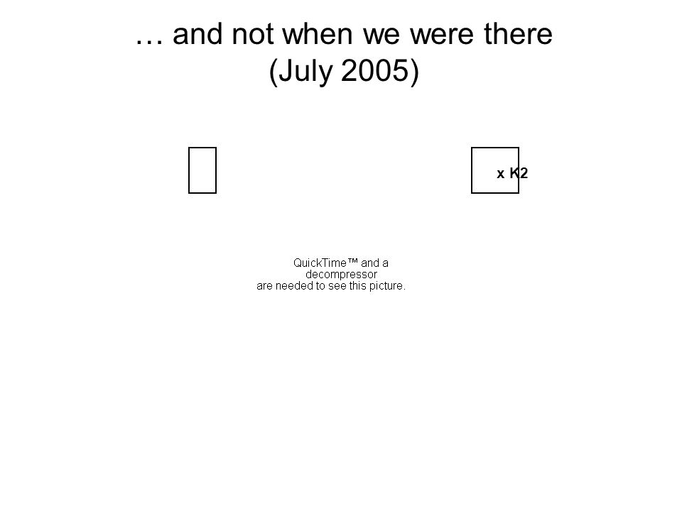 … and not when we were there (July 2005) x K2