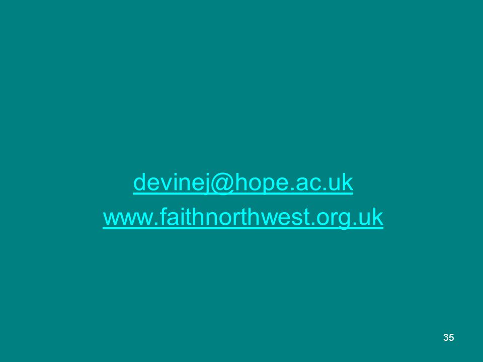 devinej@hope.ac.uk www.faithnorthwest.org.uk 35