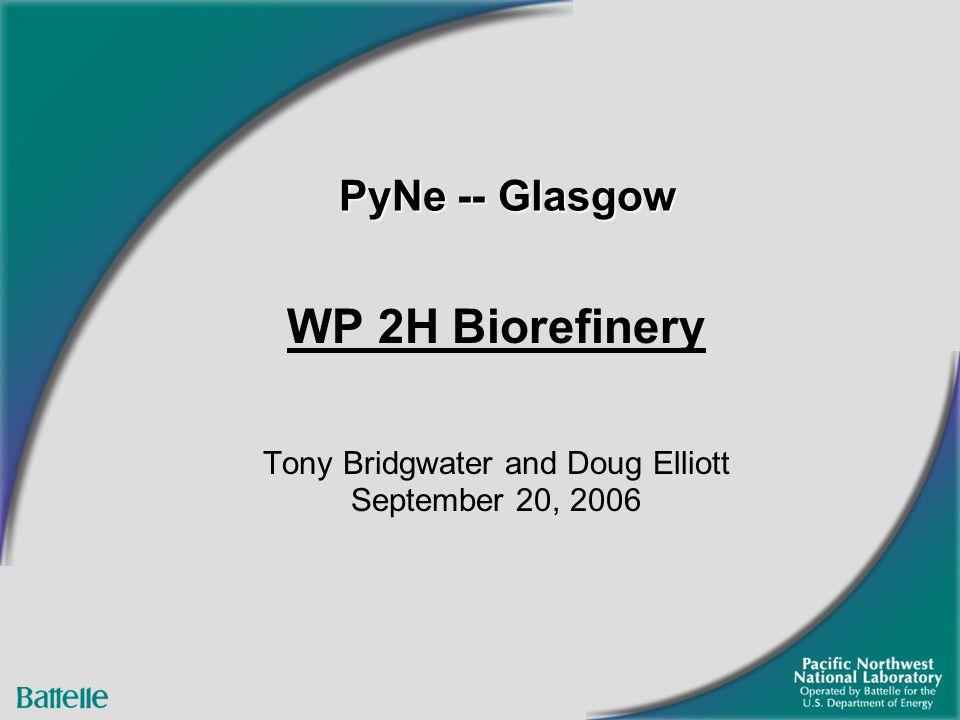 PyNe -- Glasgow WP 2H Biorefinery Tony Bridgwater and Doug Elliott September 20, 2006