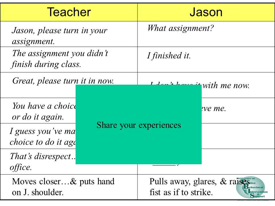 TeacherJason Jason, please turn in your assignment.