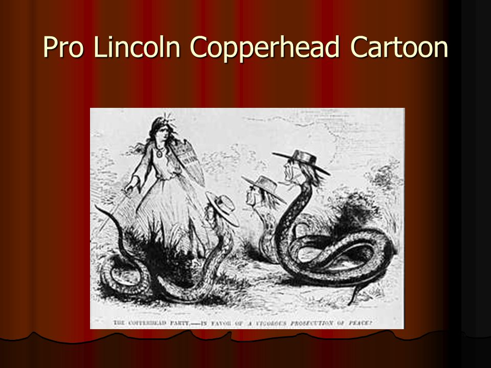 Pro Lincoln Copperhead Cartoon