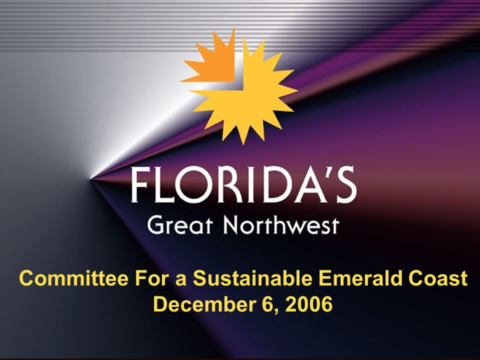 Florida's Great Northwest Converting to a Knowledge-Based Economy – By 2030:  The population demographics will reflect a younger, well educated, highly skilled workforce  This demographic will not tolerate a commuter-based environment  This demographic will not support an art, culture, and recreation environment predicated on tourism supported or senior age group activities  This demographic will be of child-bearing age, will demand a quality education for their children, and will migrate to the best K-12 education systems.