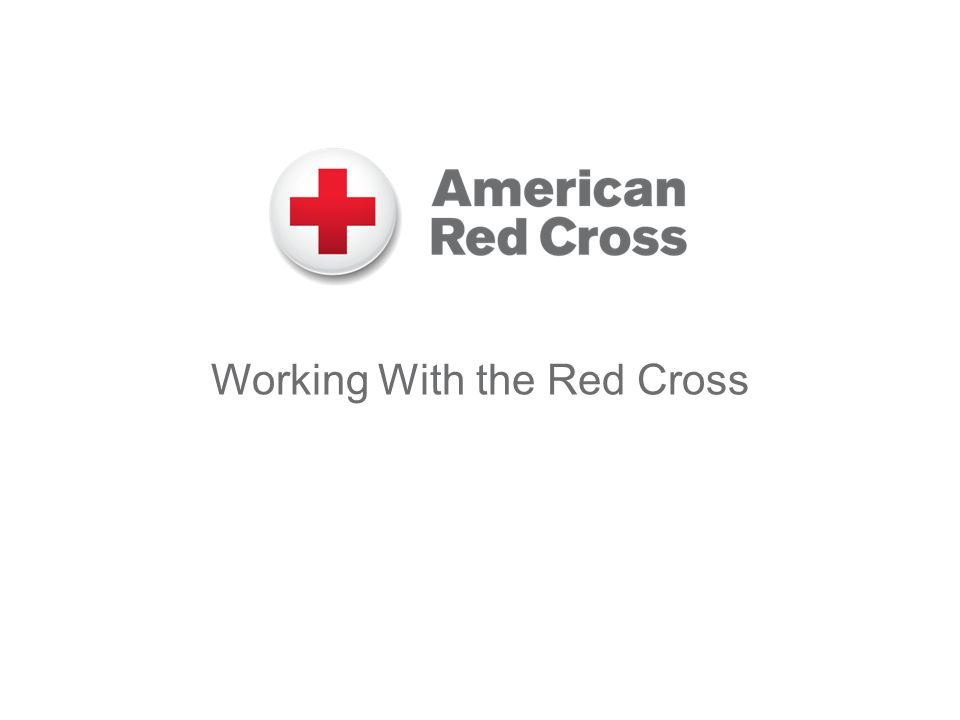 Working With the Red Cross