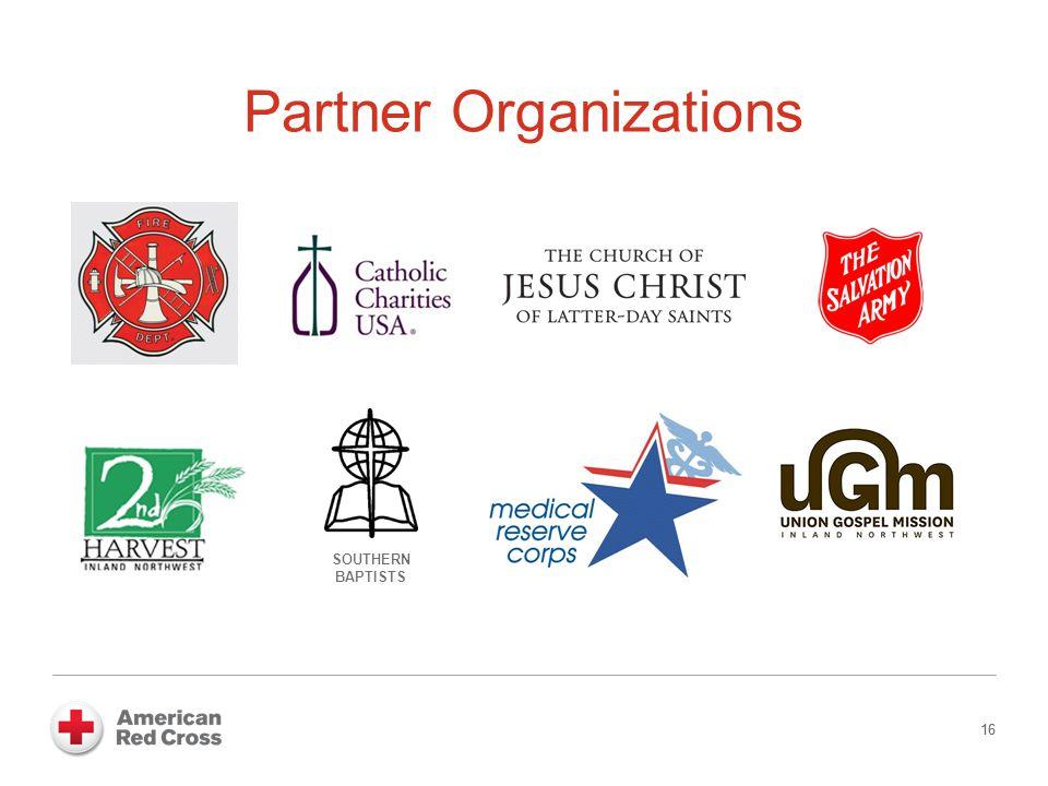 16 Partner Organizations 16 SOUTHERN BAPTISTS