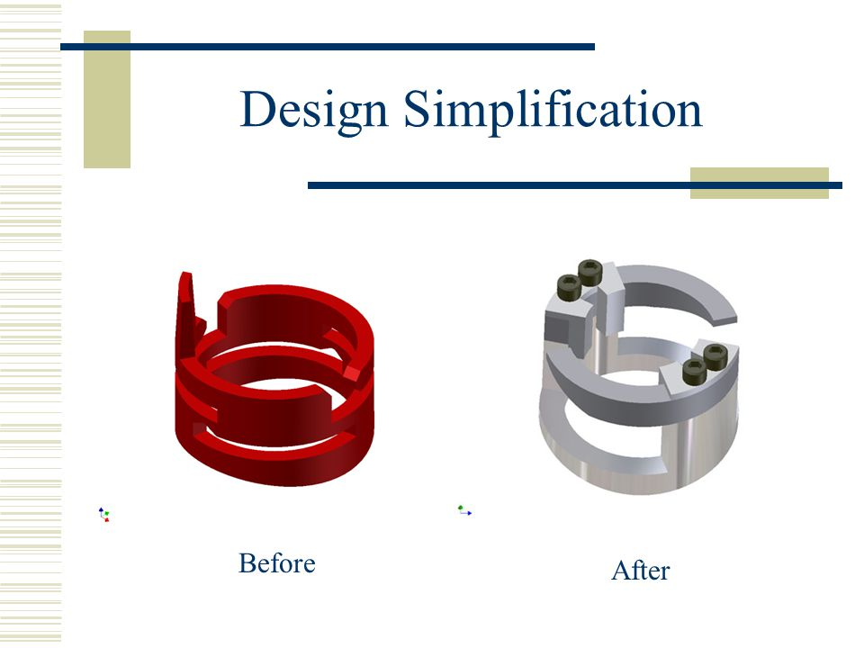 Design Simplification Before After