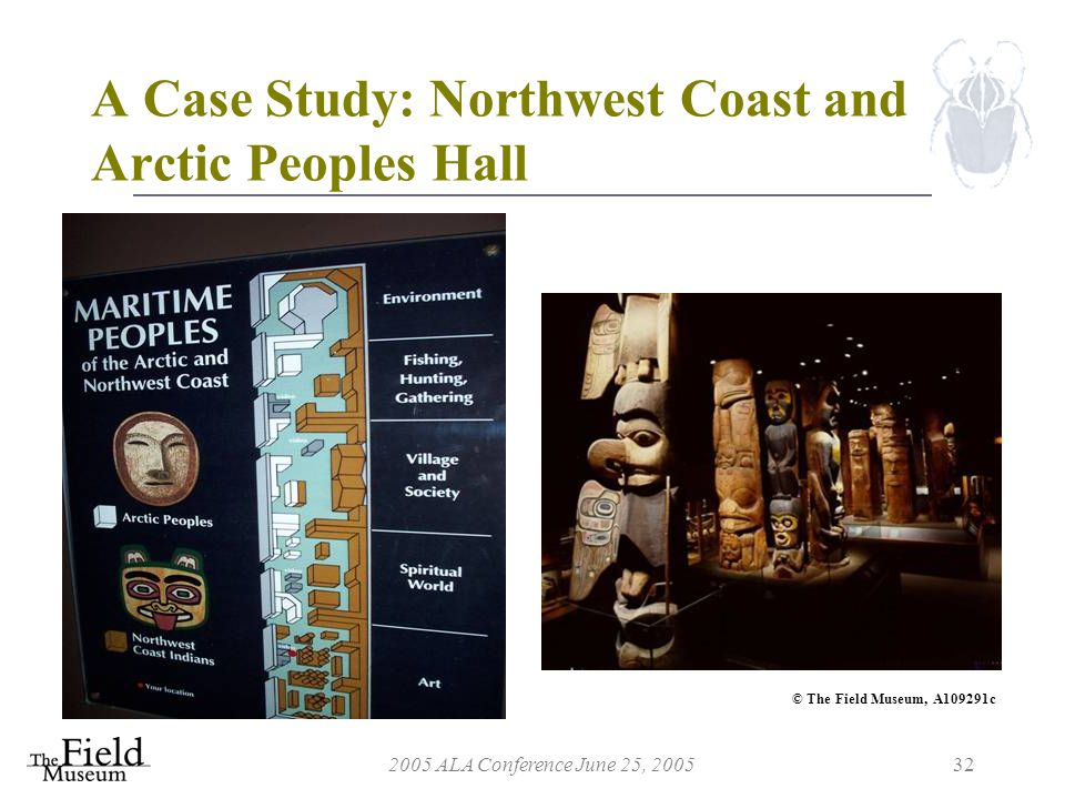 2005 ALA Conference June 25, 200532 A Case Study: Northwest Coast and Arctic Peoples Hall © The Field Museum, A109291c