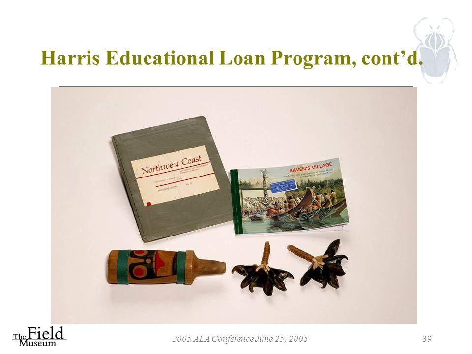 2005 ALA Conference June 25, 200539 Harris Educational Loan Program, cont'd.