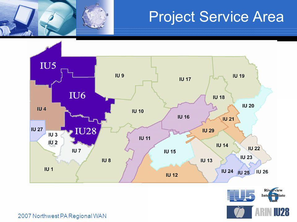 2007 Northwest PA Regional WAN Project Service Area