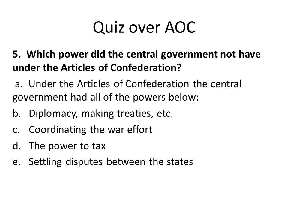 Quiz over AOC 5.