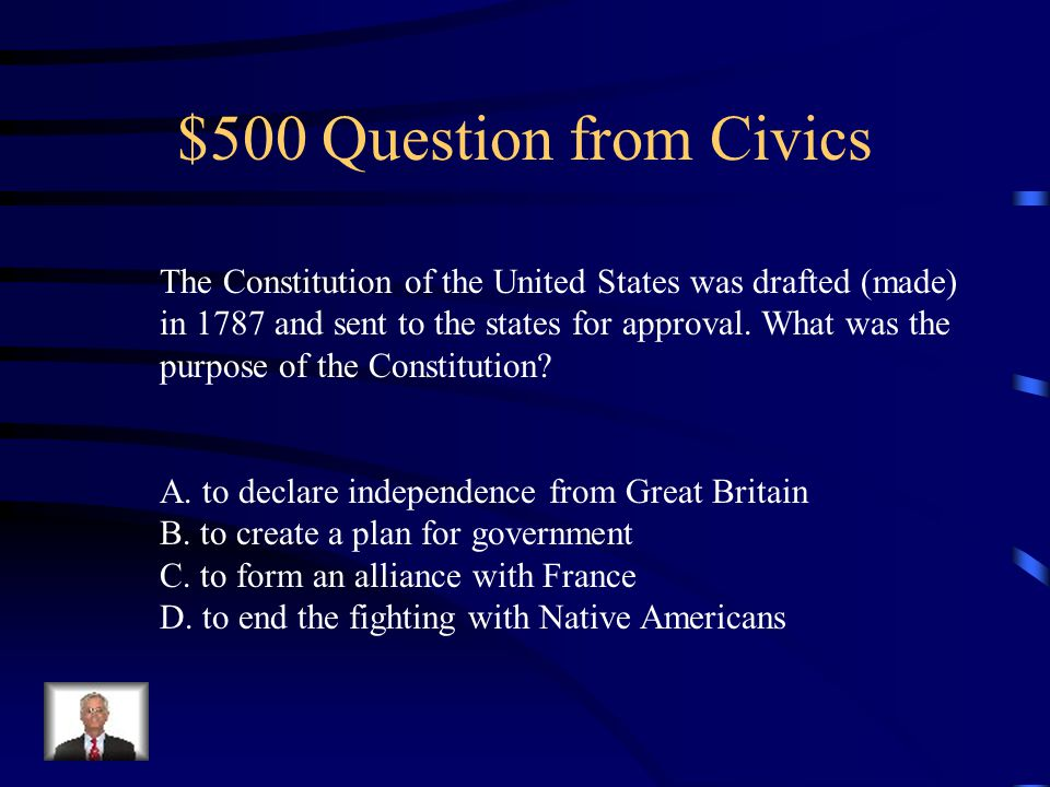 $400 Answer from Civics C. cabinet