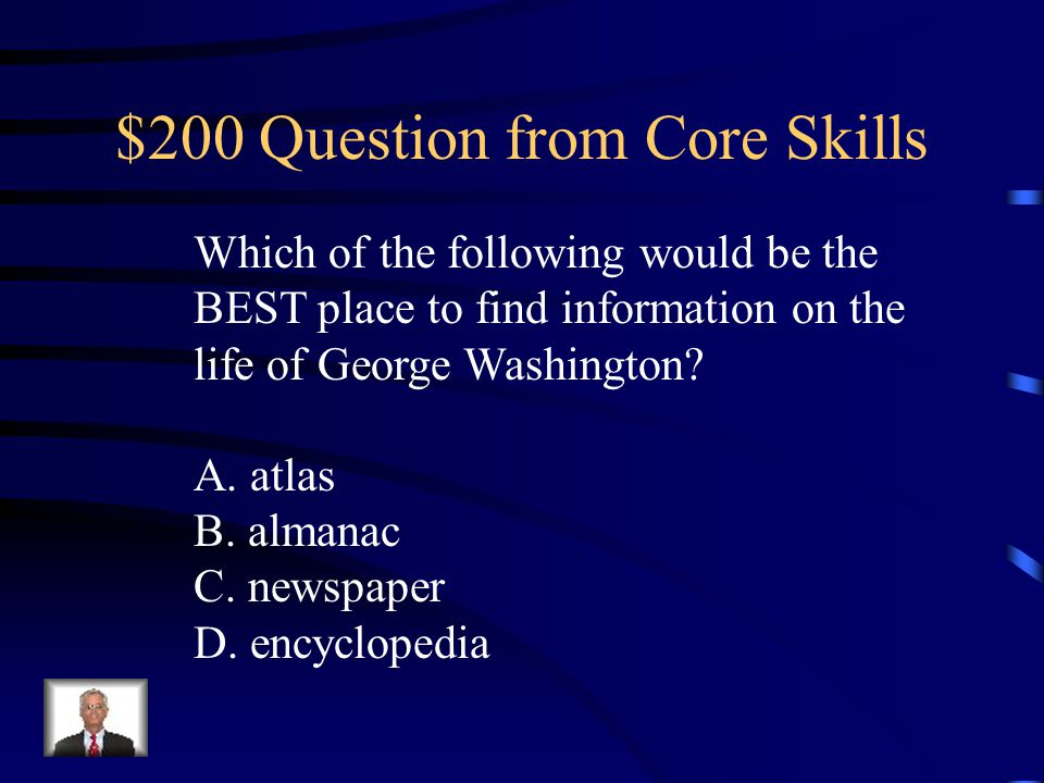 $100 Answer from Core Skills D. that divides the world into hemispheres.