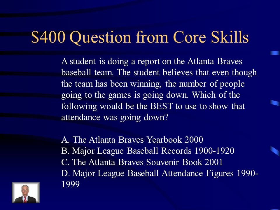 $300 Answer from Core Skills D. the people's clothing