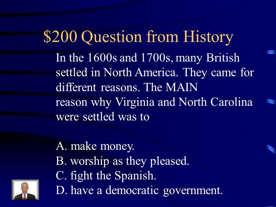 $100 Answer from History D. Ferdinand Magellan
