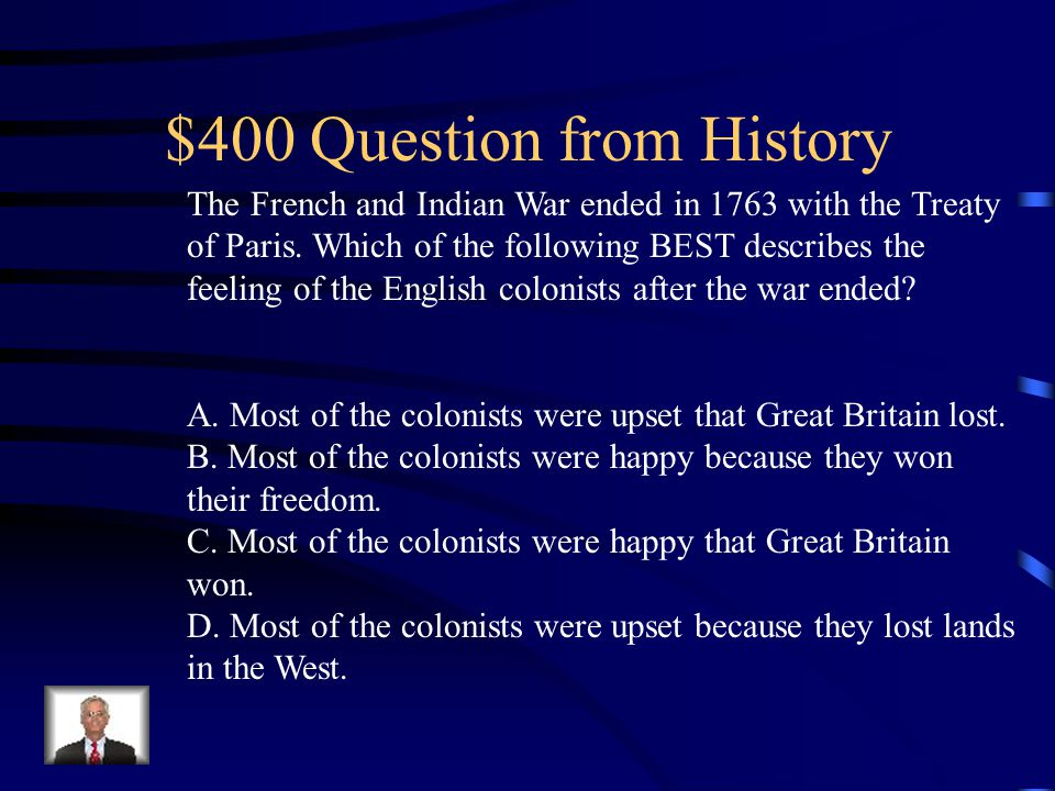 $300 Answer from History B. Constitution of the United States.