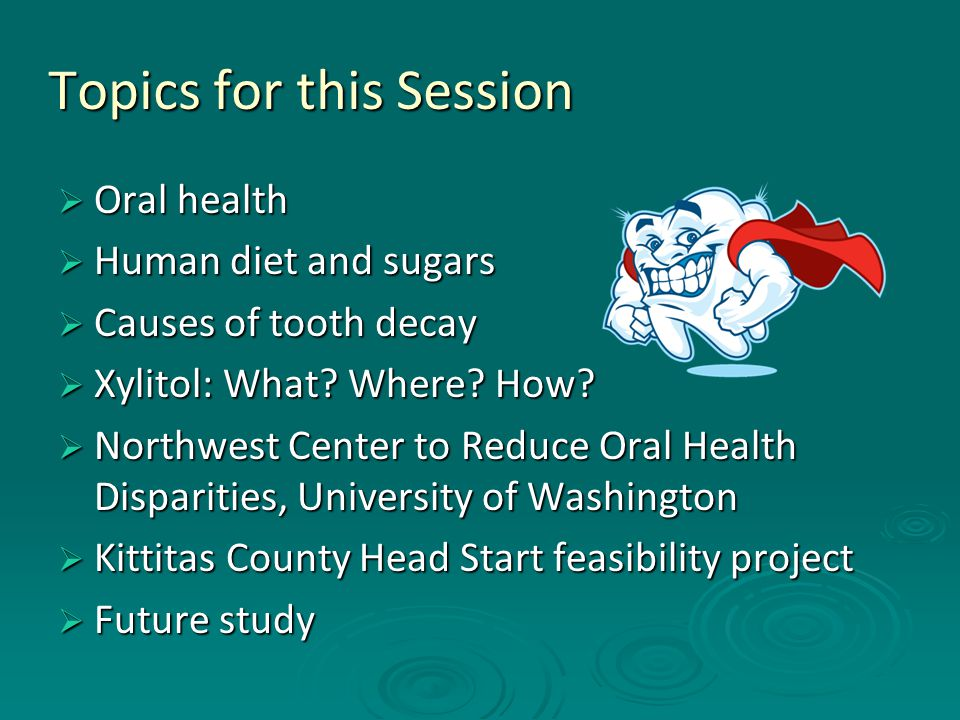 Oral Health  A healthy mouth is integral to an individual's total health.
