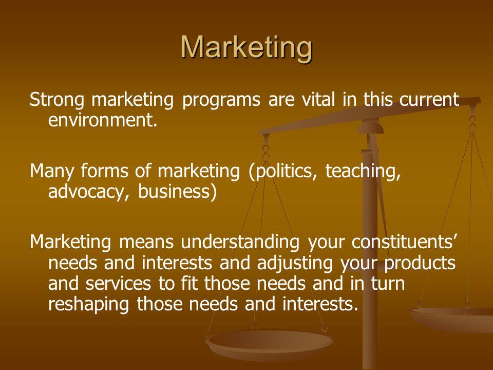 Communications Communications should be a fundamental part of an organization's marketing effort e.g.