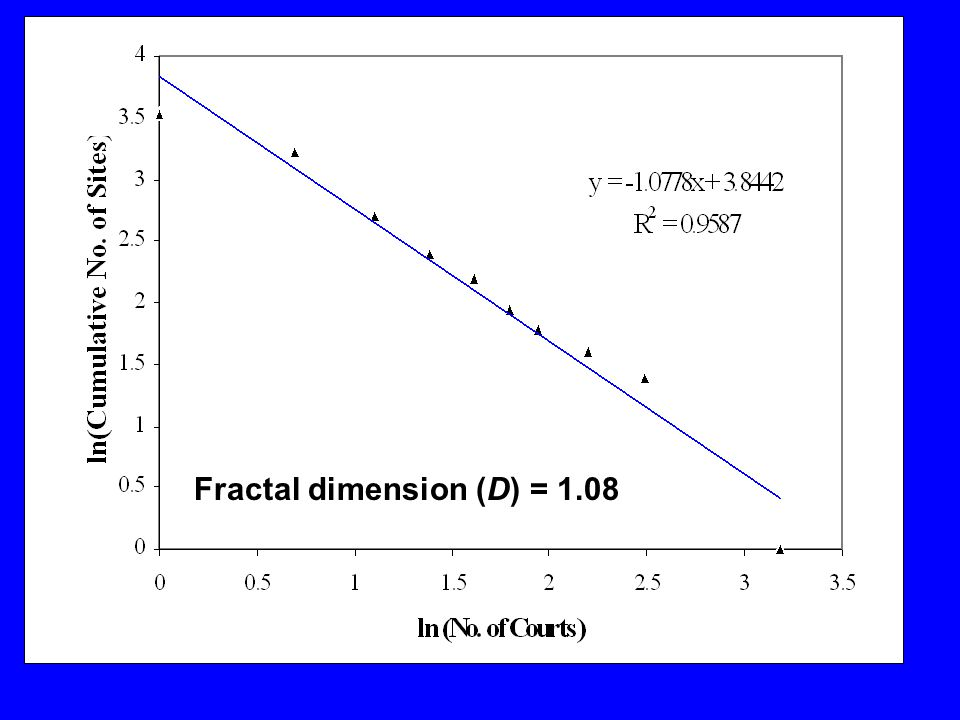 Fractal dimension (D) = 1.08