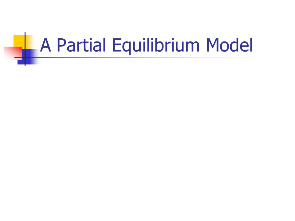 A Partial Equilibrium Model