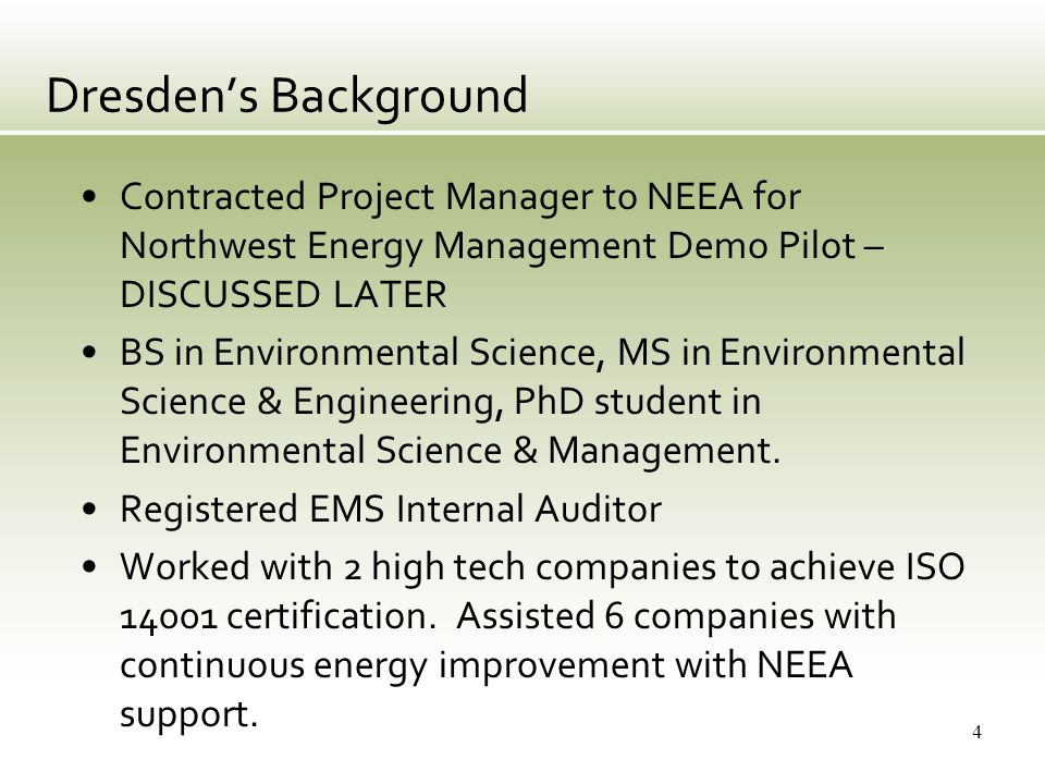 Recap of Major Dates May 2008: USDOE & Texas Industries for the Future start ANSI MSE, Save Energy Now and Superior Energy Performance pilot.