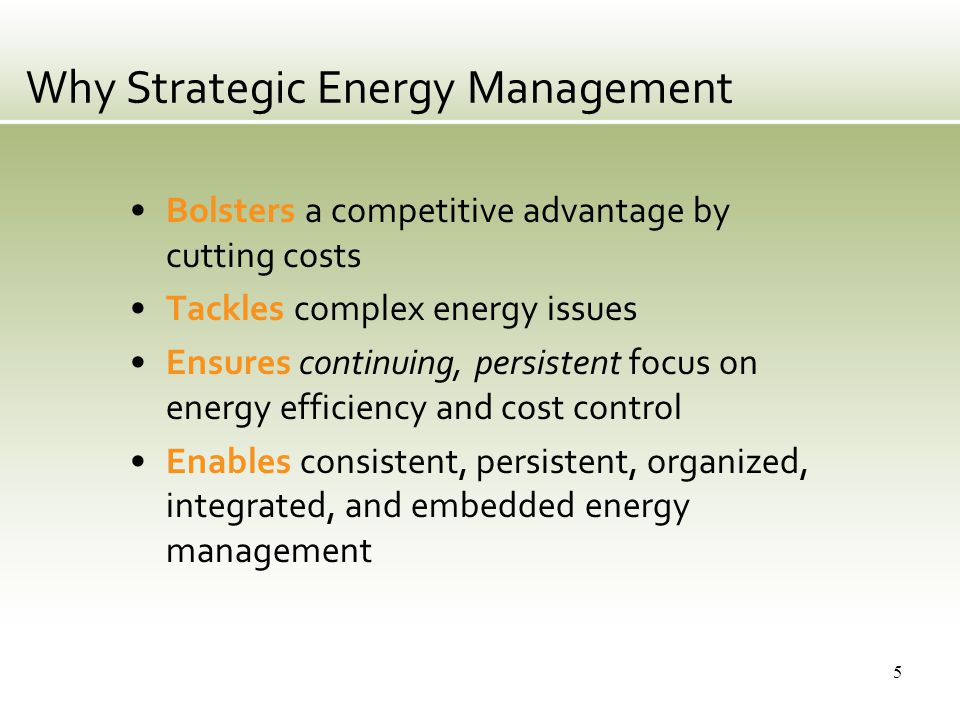 What Is A Strategic Energy Management System (EnMS).