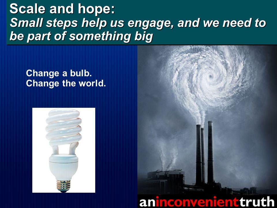 Change a bulb. Change the world.