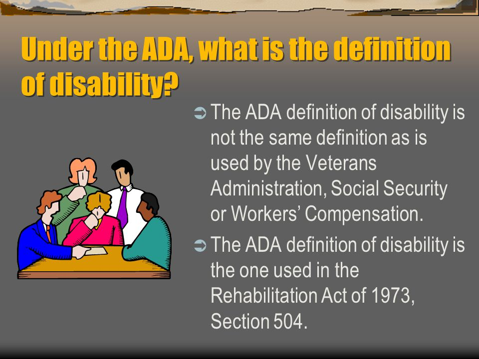 ADA Factoids  Allergies and fear of animals are not generally valid reasons for denying access or refusing to serve people with service animals.
