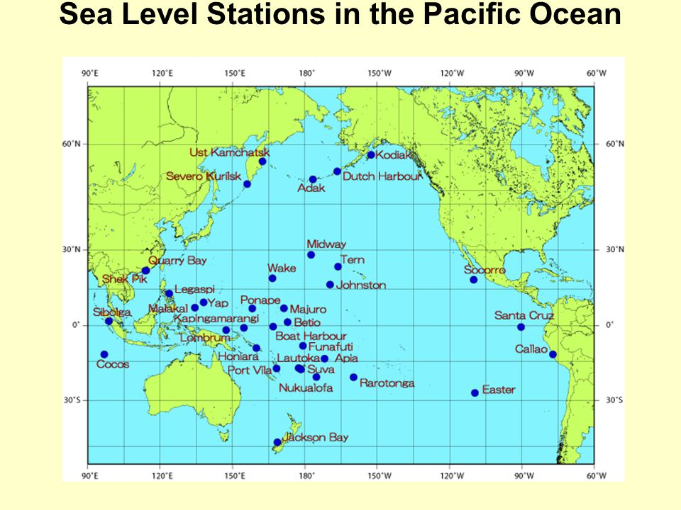 Sea Level Stations in the Pacific Ocean