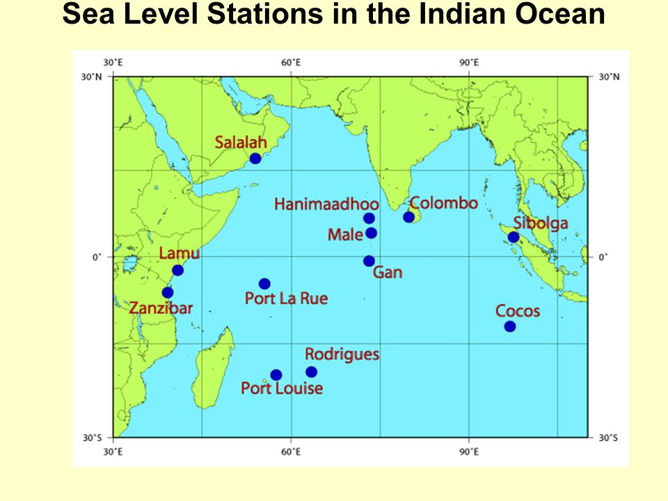 Sea Level Stations in the Indian Ocean