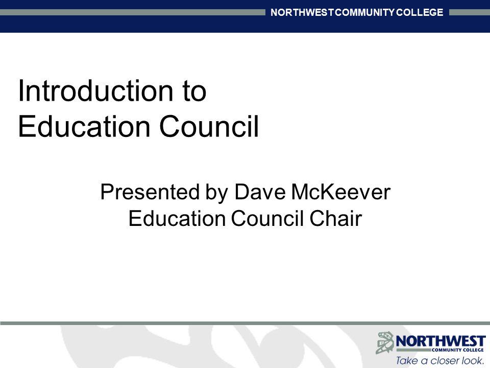 NORTHWEST COMMUNITY COLLEGE Advisory Role of Ed.