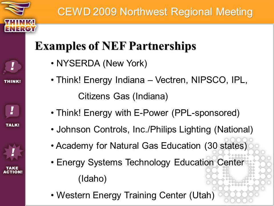 Examples of NEF Partnerships NYSERDA (New York) Think.