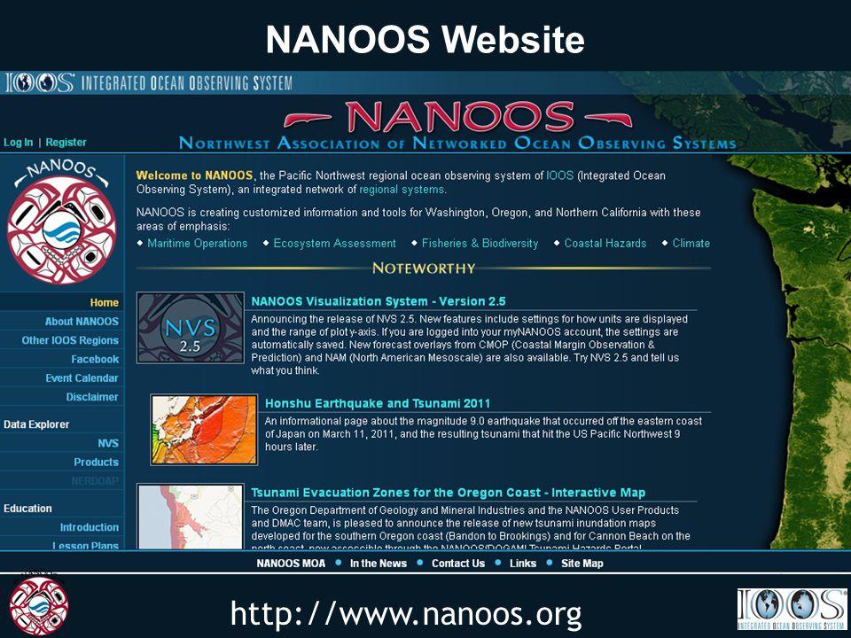 http://www.nanoos.org NANOOS Website