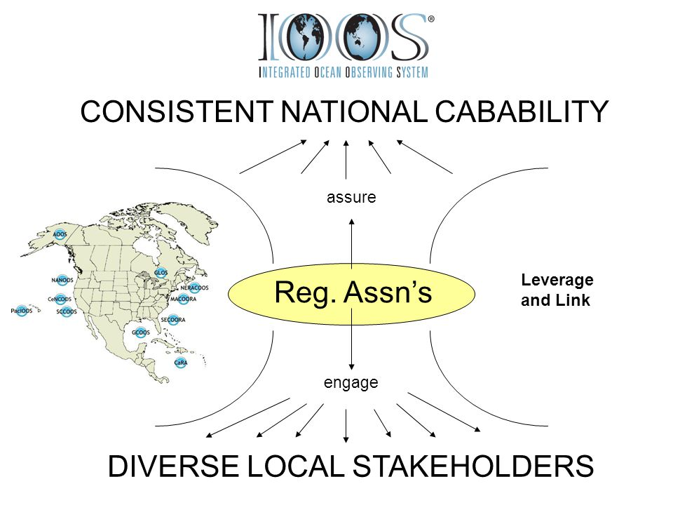 Reg. Assn's engage DIVERSE LOCAL STAKEHOLDERS assure CONSISTENT NATIONAL CABABILITY Leverage and Link