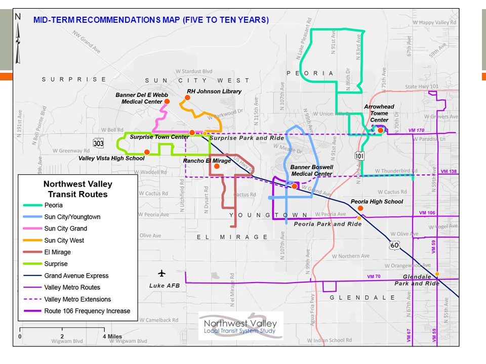 MID-TERM RECOMMENDATIONS MAP (FIVE TO TEN YEARS)